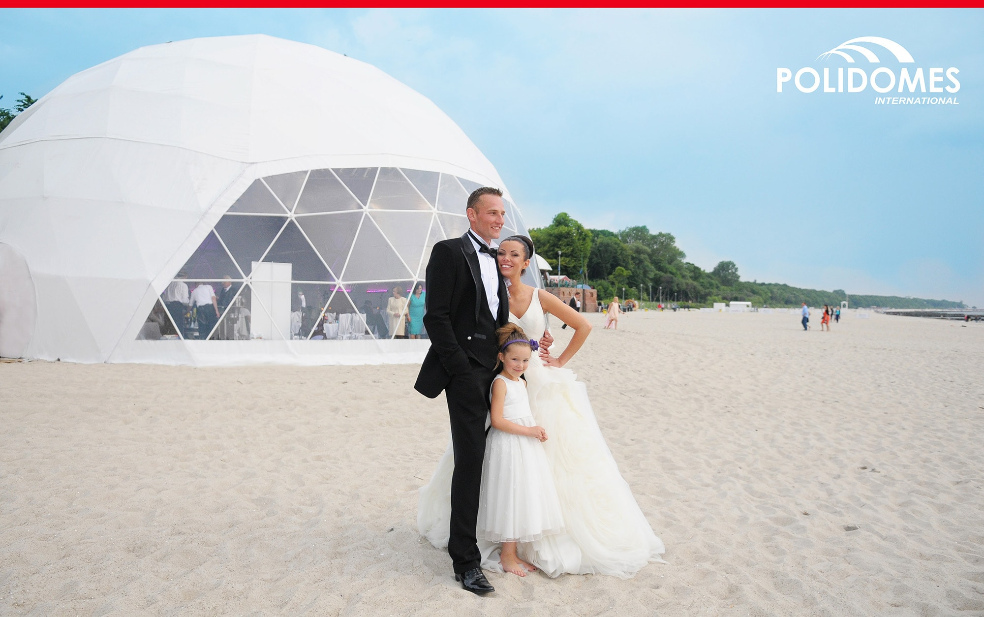 wedding dome tent on the beach