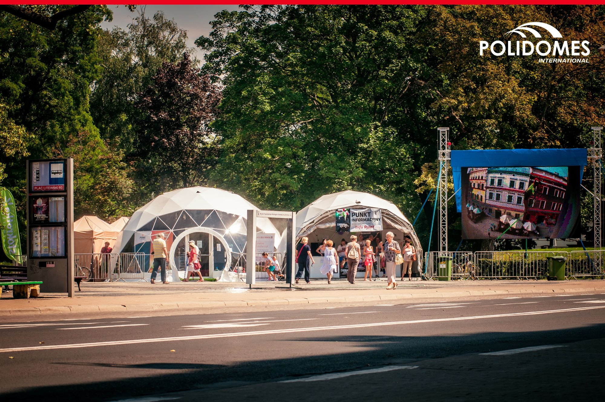 Polidomes festival tents